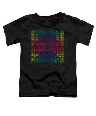 Batik Rainbow 100 - Black Toddler T-Shirt
