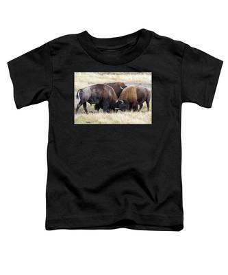 Bison Fight Toddler T-Shirt