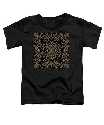 Black And Gold Art Deco Filigree 003 Toddler T-Shirt