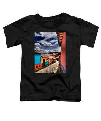 Toddler T-Shirt featuring the photograph Calle De Colores by Skip Hunt