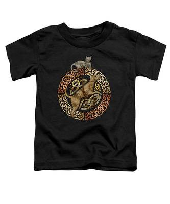 Celtic Cat And Dog Toddler T-Shirt