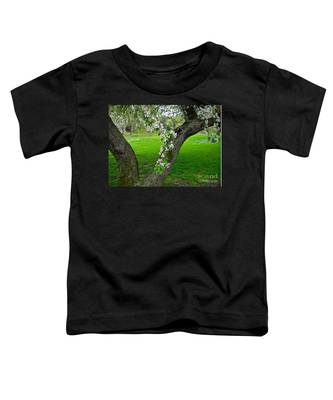 Crabapple Blossoms On A Rainy Spring Day Toddler T-Shirt