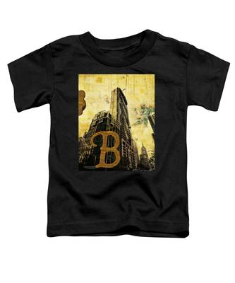 Grungy Melbourne Australia Alphabet Series Letter B Central Busi Toddler T-Shirt