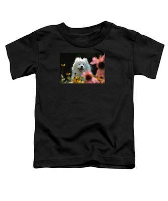 Happy Gal In The Garden Toddler T-Shirt