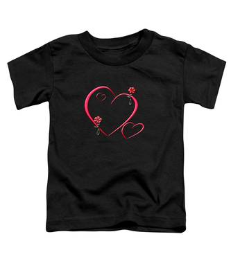 Hearts And Flowers Toddler T-Shirt