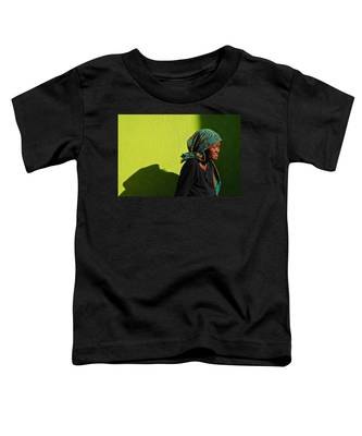 Toddler T-Shirt featuring the photograph Lady In Green by Skip Hunt