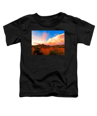 Toddler T-Shirt featuring the photograph Monsoon Storm Sunset by Judy Kennedy