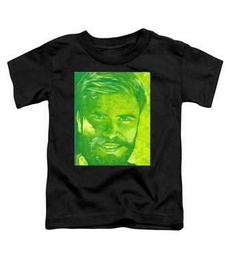 Portrait In Green Toddler T-Shirt