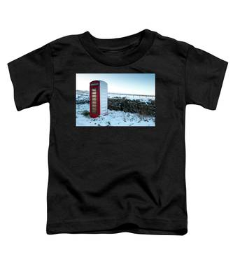 Snowy Telephone Box Toddler T-Shirt