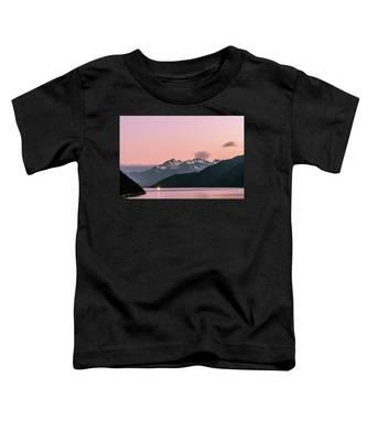 Sunset In Alaska Toddler T-Shirt