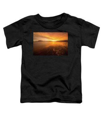 Utah Lake Sunset Toddler T-Shirt