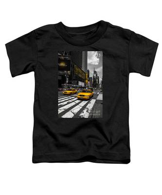 Yellow Cabs Cruisin On The Times Square  Toddler T-Shirt