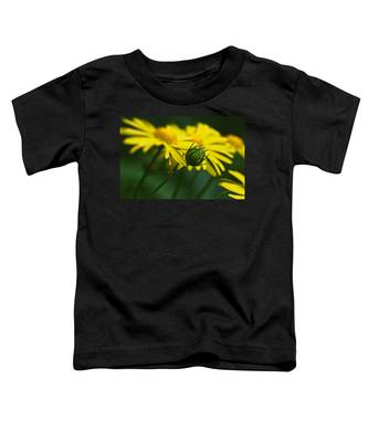 Yellow Daisy Bud Toddler T-Shirt