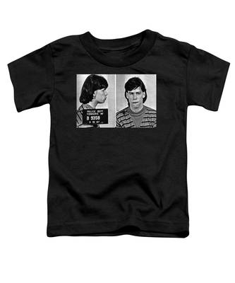 Young Steven Tyler Mug Shot 1963 Pencil Photograph Black And White Toddler T-Shirt