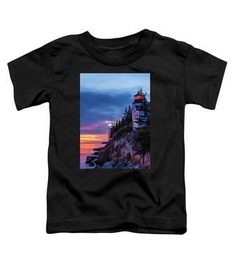 Bass Harbor Head Lighthouse At Twilight Toddler T-Shirt