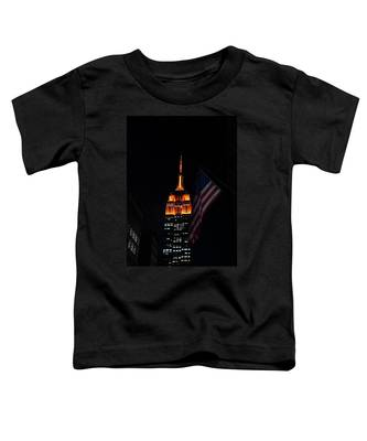 Empire State Building American Flag Toddler T-Shirt