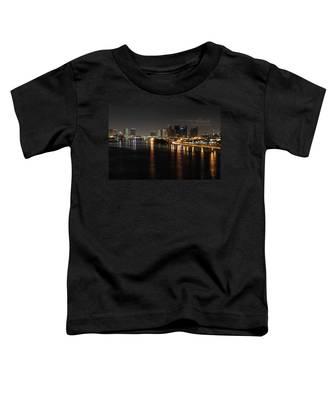 Miami Lights At Night Toddler T-Shirt