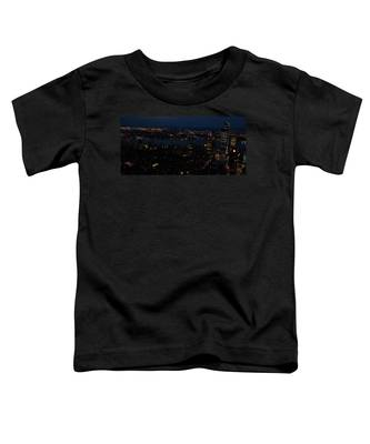 New York City Skyline At Night Toddler T-Shirt