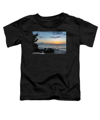 Sunset Afterglow In Negril Jamaica Toddler T-Shirt