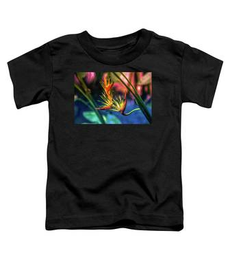 Vibrant Jungle Bird Toddler T-Shirt