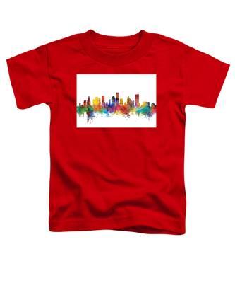 Houston Texas Skyline Toddler T-Shirt