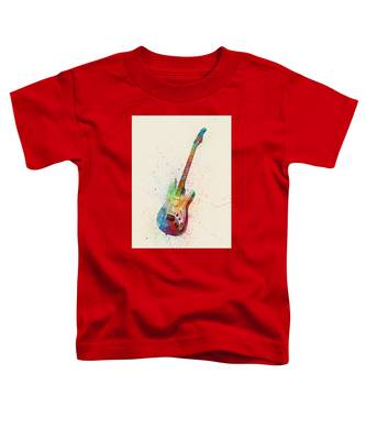 Electric Guitar Abstract Watercolor Toddler T-Shirt