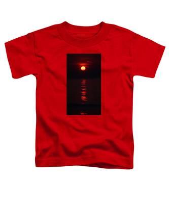 Burnt Orange Sunrise Toddler T-Shirt