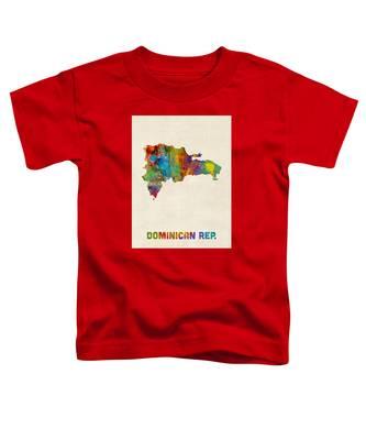 Dominican Republic Watercolor Map Toddler T-Shirt