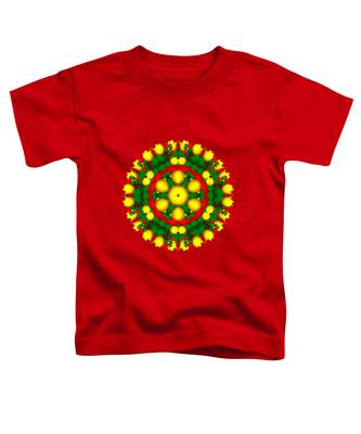 Fractal Christmas Wreath I Toddler T-Shirt
