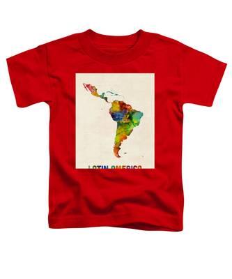 Latin America Watercolor Map Toddler T-Shirt