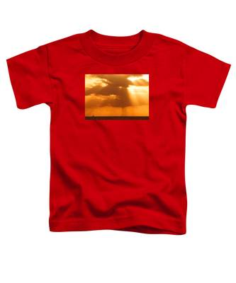 Sailboat Bathed In Hazy Rays Toddler T-Shirt