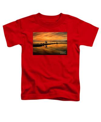 Silhouette And Amazing Sunset In Thassos Toddler T-Shirt