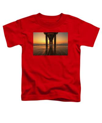 St Augustine Beach Pier Morning Light Toddler T-Shirt