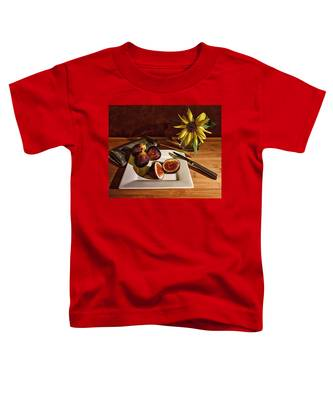 Still Life With Flower And Figs Toddler T-Shirt