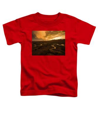 Sunrise Over Winding Rivers Toddler T-Shirt