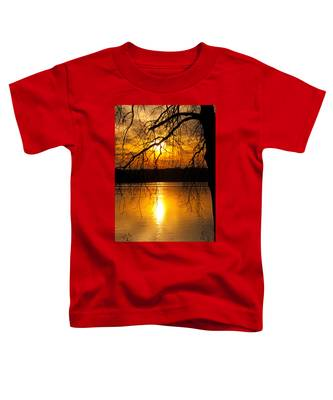 Sunset Over The Lake Toddler T-Shirt