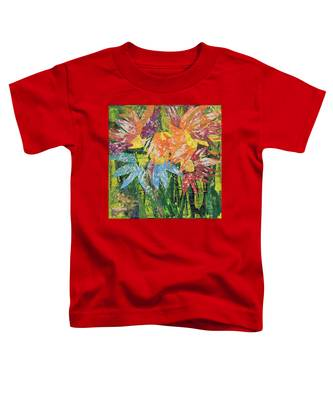 Zinnias Gone Mad Toddler T-Shirt