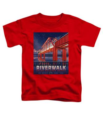 Union Railroad Bridge - Riverwalk Toddler T-Shirt