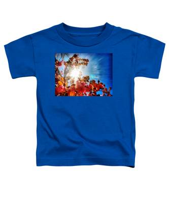 Toddler T-Shirt featuring the painting Blooming Sunlight by Derek Gedney