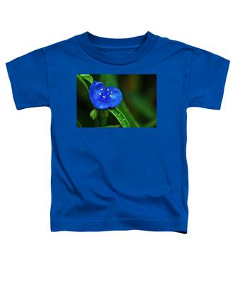 Yellow Blue And Raindrops Toddler T-Shirt