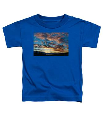 Space Needle In Clouds Toddler T-Shirt