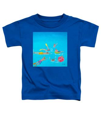 Beach Decor 'holiday Splash' By Jan Matson Toddler T-Shirt