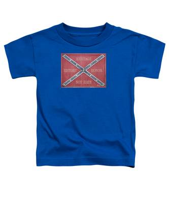 Confederate Flag On Wooden Door Toddler T-Shirt