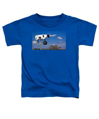 Toddler T-Shirt featuring the photograph Cow Power by Skip Hunt