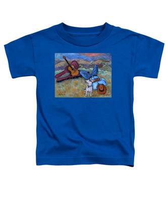 Guitar Doggy And Me In Wine Country Toddler T-Shirt