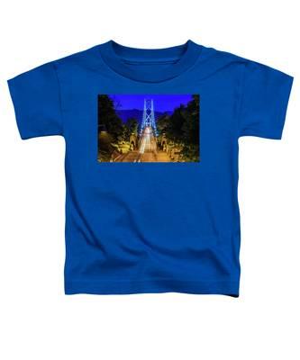 Lions Gate Bridge At Night Toddler T-Shirt