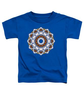 Peacock Fractal Snow Flower Toddler T-Shirt