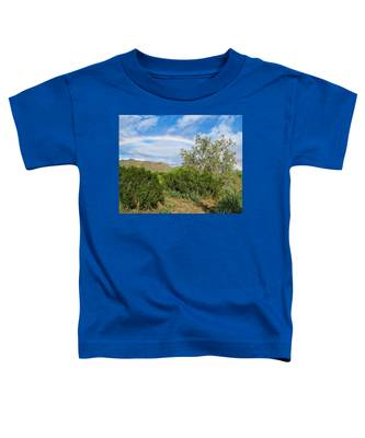 Toddler T-Shirt featuring the photograph After An Arizona Winter Rain by Judy Kennedy