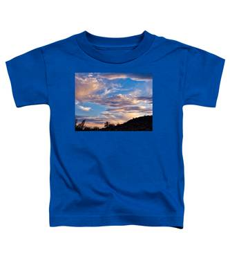 Toddler T-Shirt featuring the photograph Dreamy Desert Sunset by Judy Kennedy