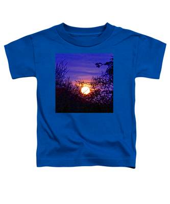 Toddler T-Shirt featuring the photograph Full Moonrise In Gemini by Judy Kennedy